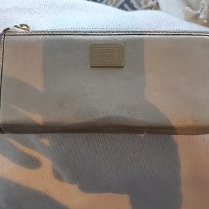 Coach Poppy Gold long wallet  leather